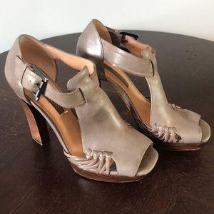Modern Vintage Taupe Gray Sandal